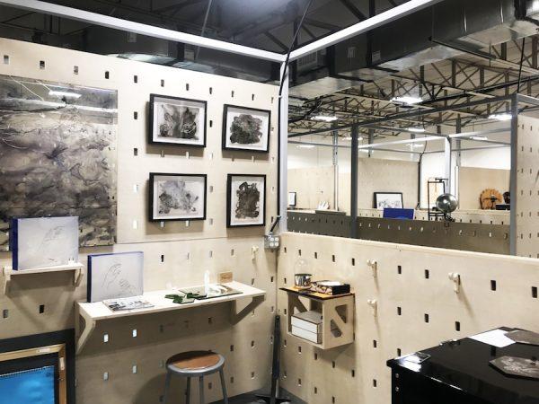 Lauren Tompkins' studio