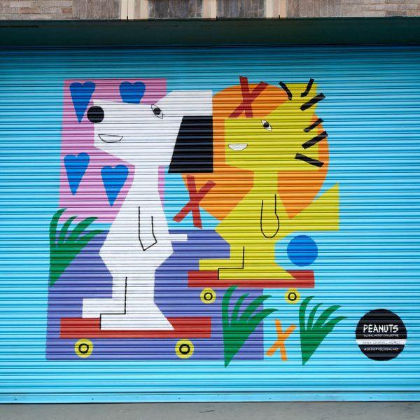 Nina Chanel Abney peanuts mural in New York City