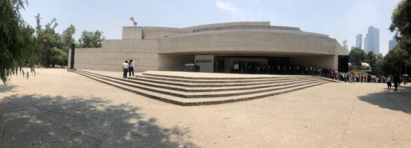 Panoramic view of the Rufino Tamayo Museum (Vista panorámica del Museo Rufino Tamayo)