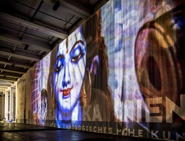 Theo Eshetu, Atlas Fractured art at the contemporary Austin