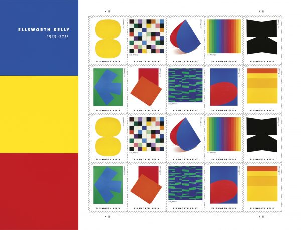 USPS Ellsworth Kelly Mail stamps