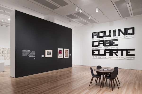 Installation View of Words/Matter: Latin American Art and Language at the Blanton at the Blanton Museum of Art, The University of Texas at Austin