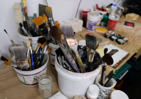 Drew Liverman's paintbrushes