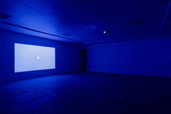 Installation view: Brian Fridge, Sequence 21.1, 2012-2019, 1 minute and 20 second, silent, color video, dimensions variable