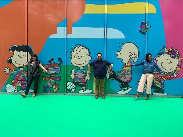Assume Vivid Astro Focus peanuts mural