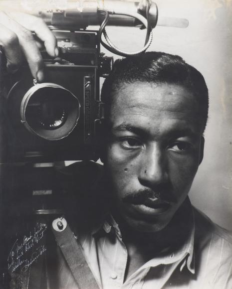 Gordon Parks self portrait photograph