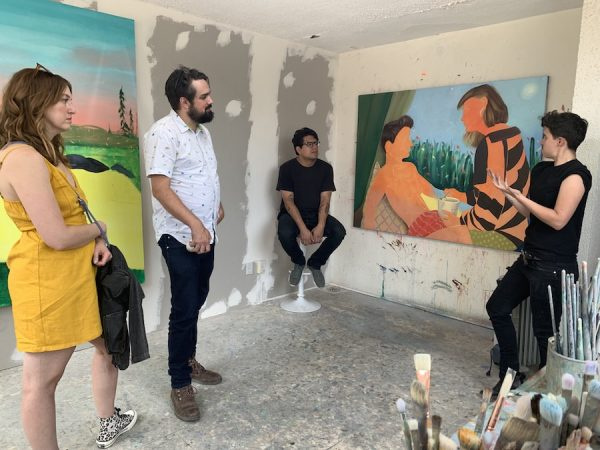 Scenes from Leslie Moody Castro's Mexico art travel series.