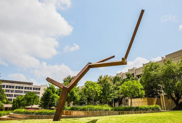 Joel Shapiro, Untitled, 2018-2019, cast bronze, approximately 24 x 22 x 20 feet
