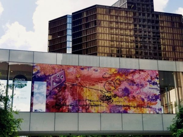 Kenny Scharf peanuts mural in Houston Texas