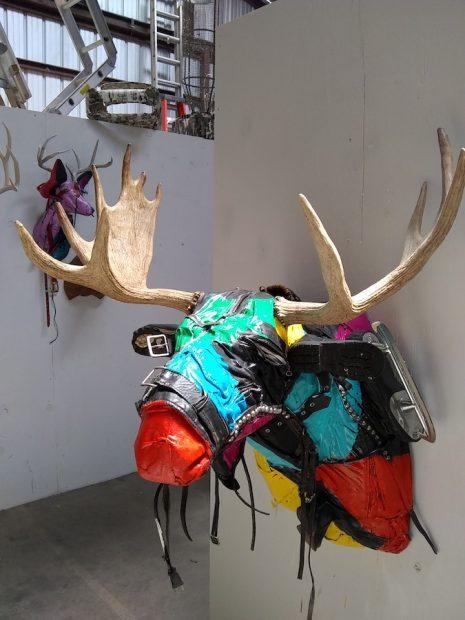 At the studio: One of Ken Little's sculptures.
