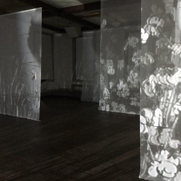 Installation view of work by Edison Peñafiel.