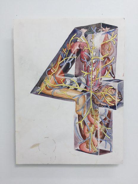 Cody Ledvina, 4, 2018 Watercolour on paper