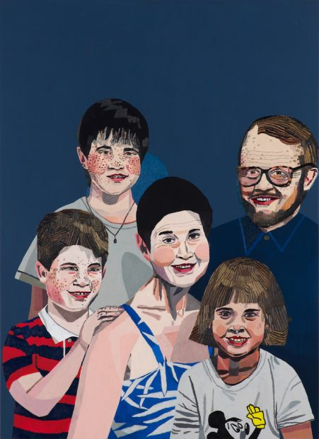 Jonas Wood, Sears Family Portrait, 2011
