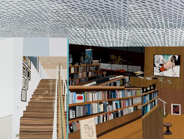 Jonas Wood, Ovitz's Library, 2013