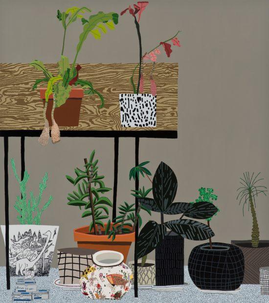 Jonas Wood, Night Bloom Still Life, 2015