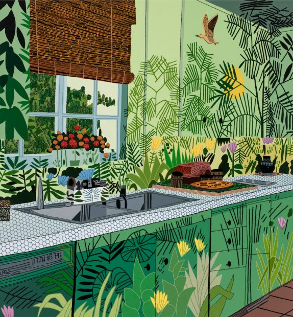 Jonas Wood, Jungle Kitchen, 2017