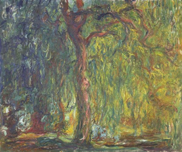 Claude Monet, Weeping Willow, 1918–1919. Oil on canvas, Kimbell Art Museum, Fort Worth, Texas