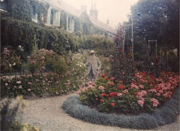 Monet in His Garden at Giverny, 1921