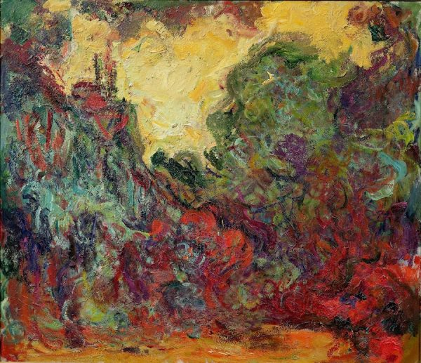 Claude Monet, The Artist's House from the Rose Garden, 1922-24. Oil on canvas.