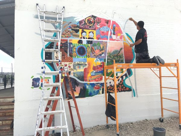 ALH Teen Intensive Mural at Sawyer Yards