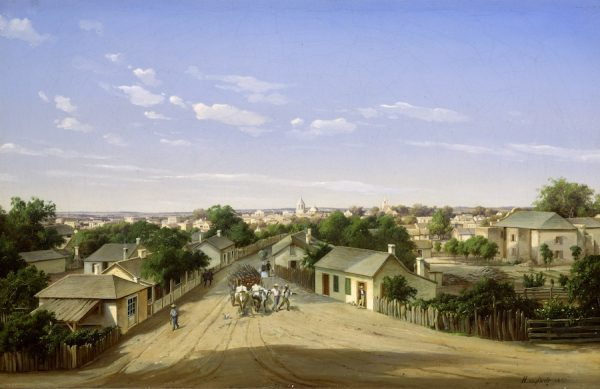 Hermann Lungkwitz, Crockett Street Looking West, San Antonio
