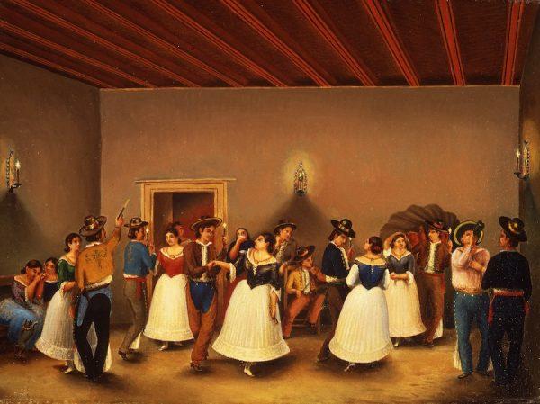 Theodore Gentilz, Un Fandango en Casa del Gobernador Cordero