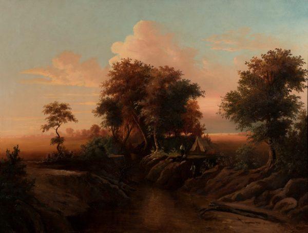 Richard Lentz,,Trinity River Near Dallas, 1886