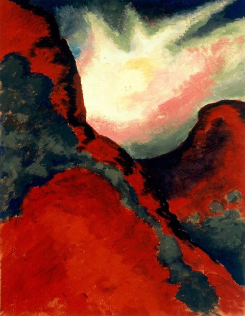 Georgia O'Keeffe, Red Landscape, 1918