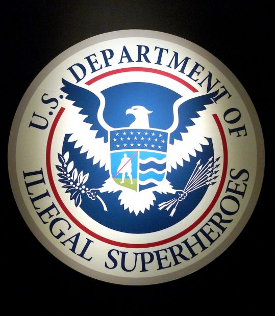 Seal of The Department of Illegal Superheroes