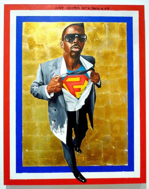 Fahamu Pecou, Nunna My Heros (after Barkley Hendricks' Icon for My Man Superman) 2011