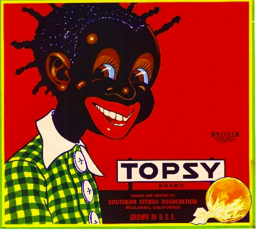 Topsy Brand Citrus Fruit Label, c. 1920s