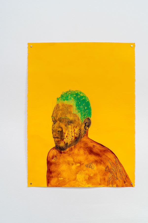 Adrian Armstrong, A Depressed Portrait (Yellow 1), 2019