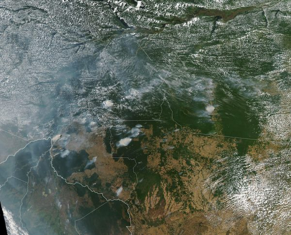 A NASA image of the fires in Brazil