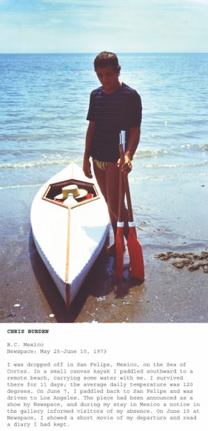 Chris Burden, BC Mexico, 1973