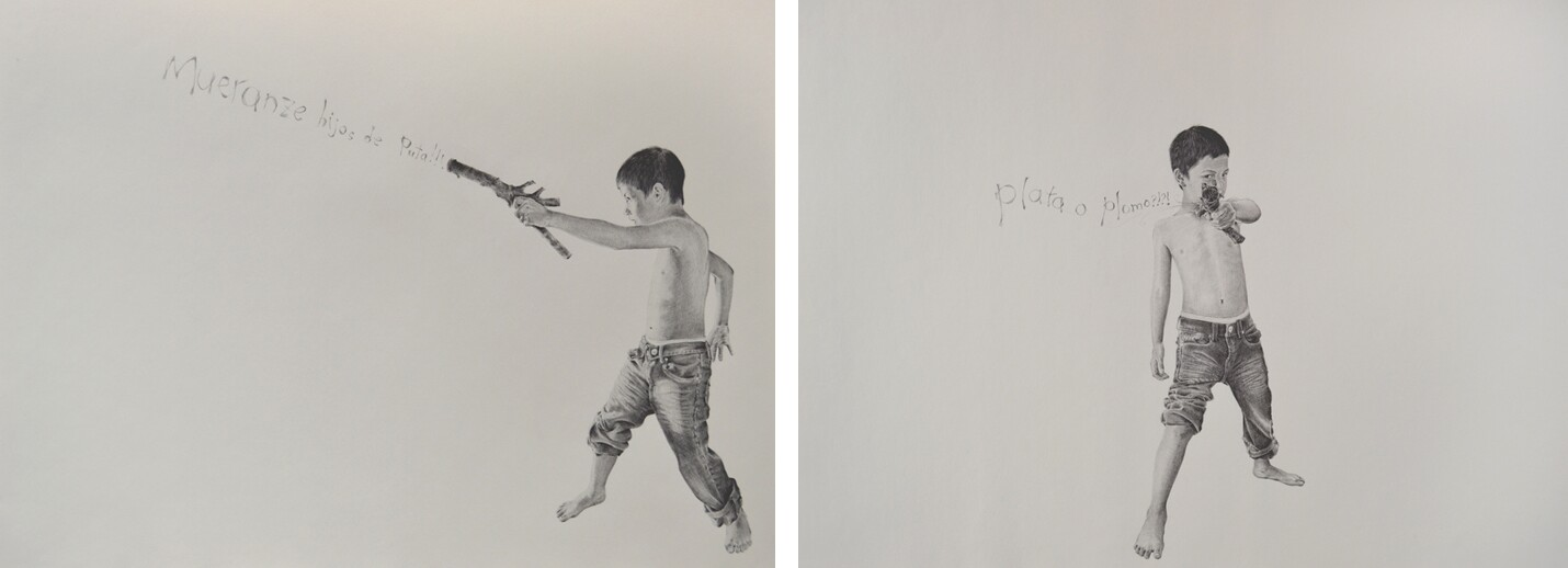 Fernando-Andrade-Mueranze Hijos de Puta (Die Sons of Bitches)_2013, _and_Plata O Plomo (Silver or Lead) 2013