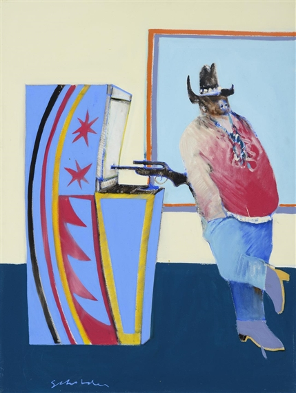 Fritz Scholder, Indian At Gallup Bus Depot
