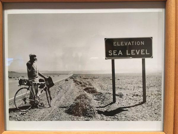 Photo documentation of Chris Burden's Death Valley Run, 1976.