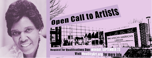 image of Barbara Jordan for the city of Houstons First open call to artists to create public art about Jordan
