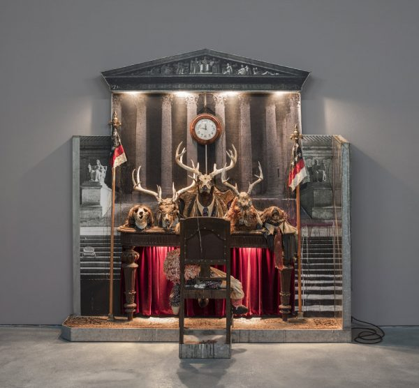 Edward and Nancy Reddin Kienholz, Drawing for the Caddy Court, 1986.