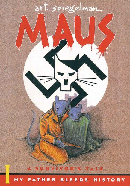 Cover art for Art Spiegelman's Maus, 1980-91