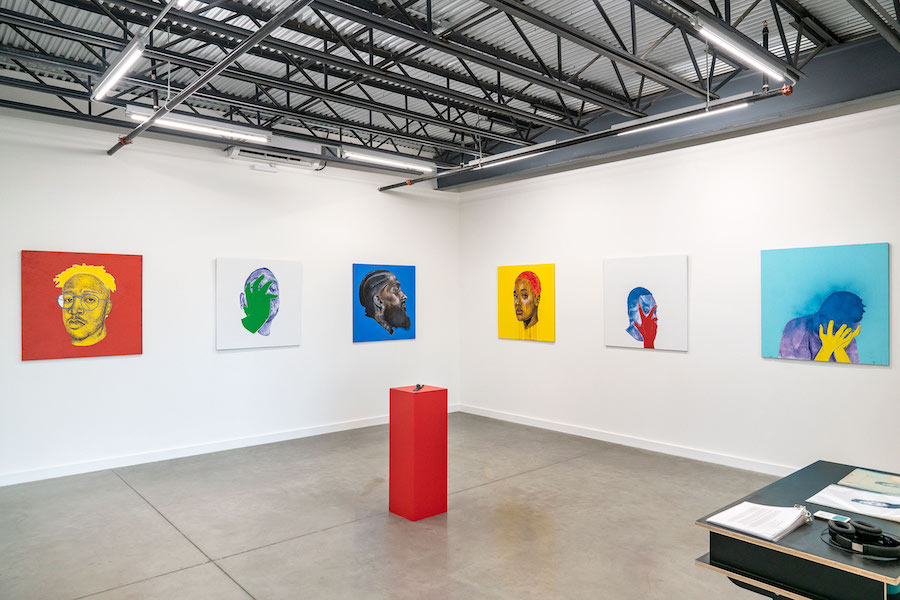 installation view of Adrian Armstrong at Co-Lab