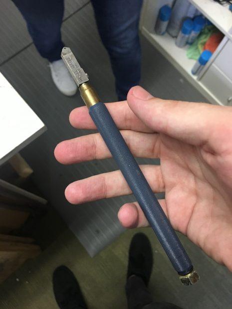 one of Blaker's custom tools