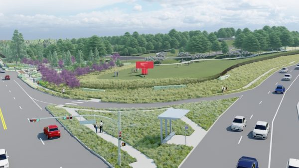 Ariel view (above Austin Highway) of new master plan