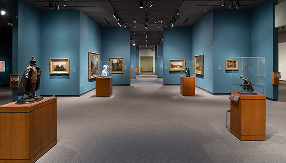 Before-view-of-gallery-at-Amon-Carter-Museum-of American-Art-a