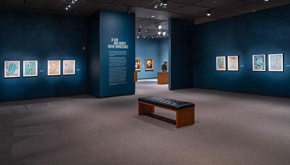 Before-view-of-upstairs-gallery-at-Amon-Carter-Museum-of American-Art-b