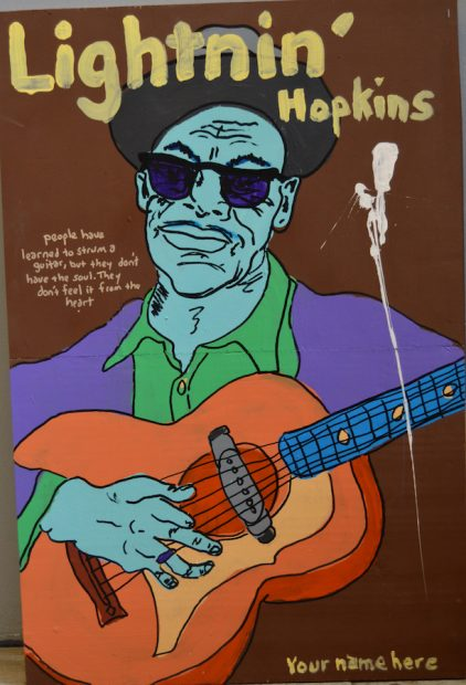 Tim Kerr, Lightnin' Hopkins.
