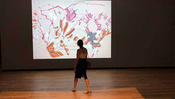 Camille-Utterbacks-interactive-video-work-at-Amon-carter-museum
