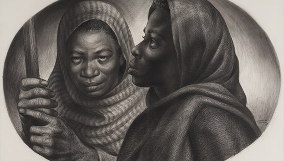 General-Moses-and Sojourner-Harriet Tubman-and-Sojourner-Truth-by-Charles-White