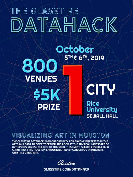 Glasstire DataHack Flier
