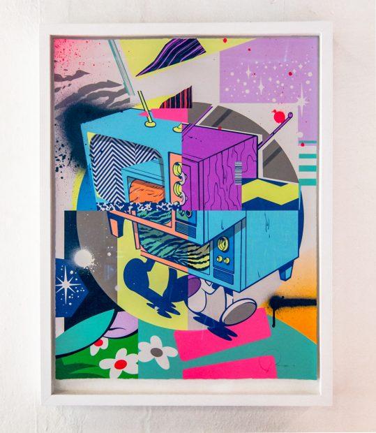 """Riot"" by Jordan Nickles (POSE), Los Angeles, California. Serigraph"